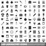 100 laboratory icons set, simple style. 100 laboratory icons set in simple style for any design vector illustration Royalty Free Stock Photos