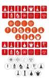 Laboratory icons set Royalty Free Stock Photos
