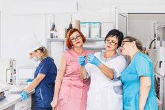 Free Laboratory In The Hospital With Doctors Lab Technicians Conducti Royalty Free Stock Photo - 122565175