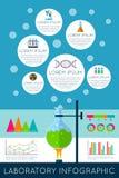 Laboratory infographics illustration Royalty Free Stock Image