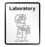 Laboratory Information Sign Stock Photos