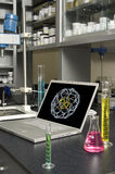 Laboratory Laptop Stock Photography