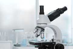 Laboratory lens of Microscope Isolated scientific research background Royalty Free Stock Image