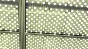 Laboratory lights in science room laboratory lighting with bulbs or flashbulb fluorescent lamps, constant scientific