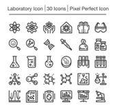Laboratory icon. Laboratory line icon set,editable stroke Royalty Free Stock Photos