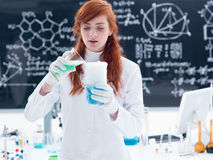 Laboratory  liquid experiment Royalty Free Stock Images