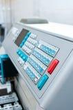 Laboratory machine detail stock photo