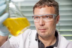 Laboratory man Stock Image