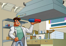 Laboratory and medic Royalty Free Stock Image