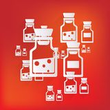 Laboratory medical flask Stock Photography