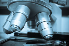 Laboratory Microscope Royalty Free Stock Photography
