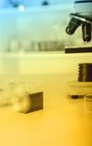 Laboratory microscope lens. Stock Image