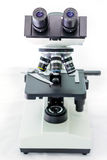 Laboratory microscope with stereo eyepiece Royalty Free Stock Photos