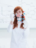 Laboratory molecular structure  analysys Royalty Free Stock Photos