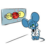 Laboratory mouse experiment Royalty Free Stock Photography