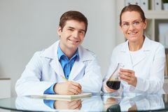 Laboratory observations Stock Image