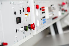 Laboratory panel ready for testing Stock Photos