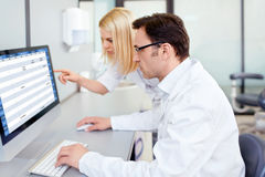 In a laboratory Royalty Free Stock Photos