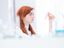 Laboratory pills analysis Stock Photo