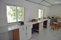 Laboratory. Public hospital in the city of Borama in North-West Somalia Stock Images