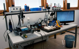 Laboratory for recovering data Royalty Free Stock Image