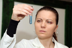 Laboratory research. Ing of influenza or some other possible disease Royalty Free Stock Image