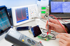 Laboratory of research microelectronics Royalty Free Stock Photos