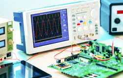 Laboratory of research microelectronics.  royalty free stock photography