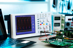 Laboratory of research microelectronics stock photos