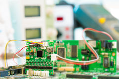 Laboratory of research microelectronics royalty free stock image
