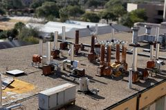 Laboratory Rooftop Royalty Free Stock Photography
