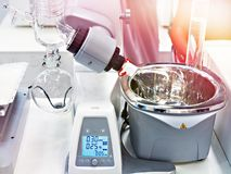 Laboratory rotary evaporator for chemical. Laboratory rotary evaporator for chemistry royalty free stock images