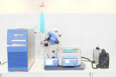 Laboratory rotary evaporator. For research and development Stock Photography