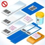 Laboratory Set 04 Object Isometric Royalty Free Stock Photography