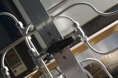 Laboratory steel tubing Royalty Free Stock Photos