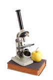 Laboratory studies by microscope Stock Photography