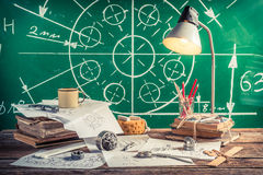 Laboratory technical drawing at school Stock Images