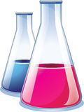 Laboratory test glasses Royalty Free Stock Photos