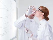 Laboratory test on people Stock Photos