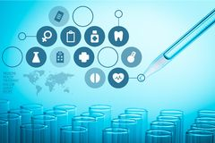 Laboratory. Test Tube Scientific Experiment Pipette Blood Healthcare And Medicine Biotechnology royalty free illustration