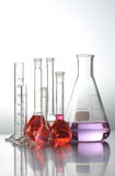 Laboratory Test tubes. Science and medical research test tubes Stock Photography