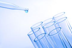 Laboratory test tubes Stock Images