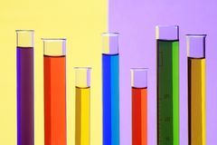 Laboratory test tubes with a chemical liquid Royalty Free Stock Photography