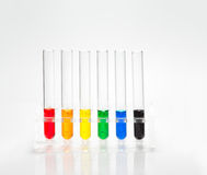 Laboratory test tubes. With colored liquid Stock Image