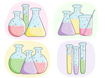 Laboratory test tubes Stock Image