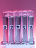 Laboratory test tubes with liquid biohazardous substance Stock Image
