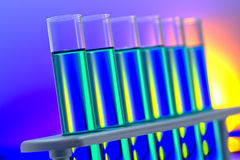 Laboratory Test Tubes in Science Research Lab Stock Photo