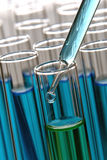 Laboratory Test Tubes in Science Research Lab Royalty Free Stock Photo