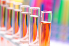 Laboratory Test Tubes in Science Research Lab Stock Photography