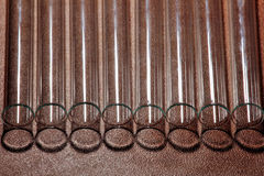 Laboratory Test Tubes, Vials, on wood background Royalty Free Stock Photo